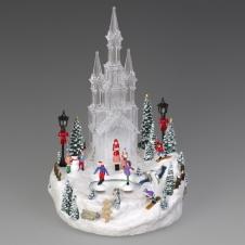 """Композиция """"Ледяной замок"""" музыкальная с LED-подсветкой, 16х15х27 см"""